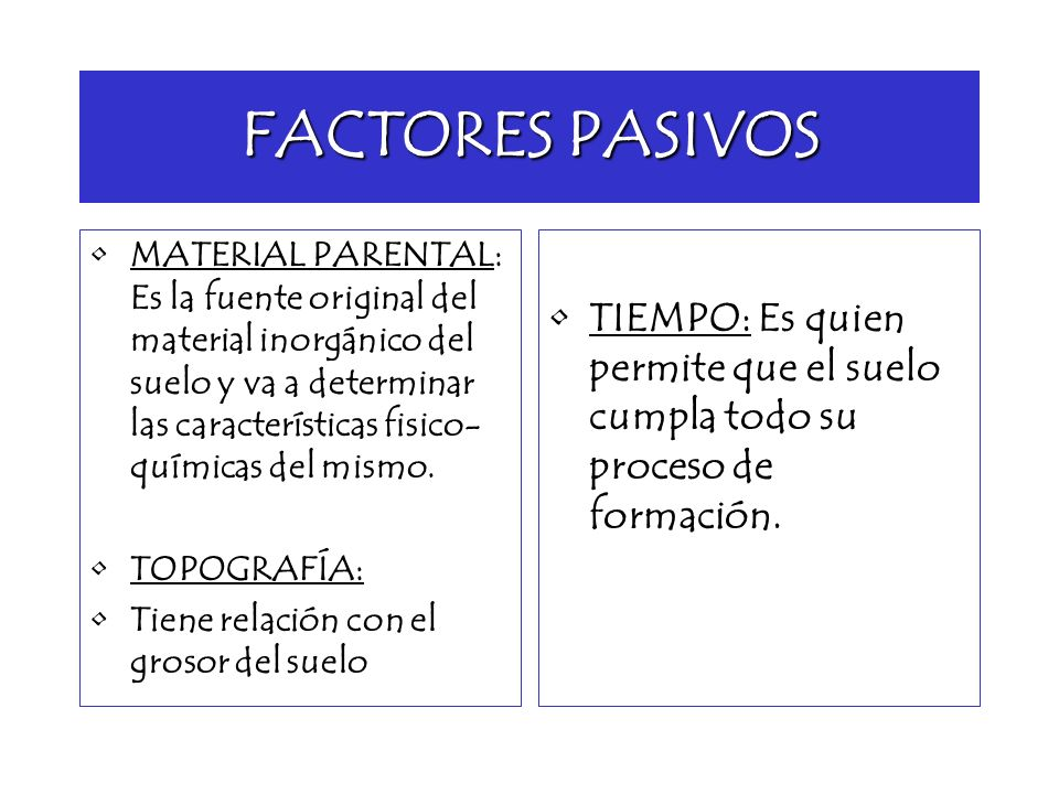 factores de formaci n del suelo ppt video online descargar
