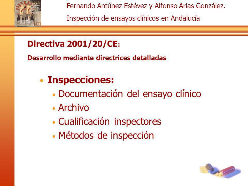 Documentación del ensayo clínico Archivo Cualificación inspectores