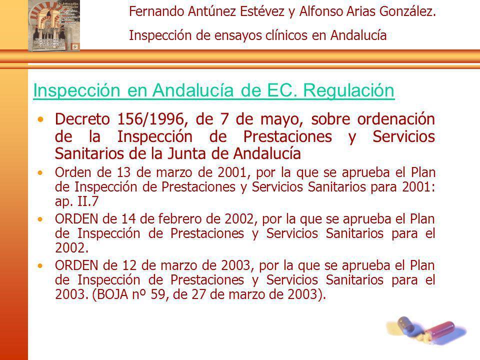 Inspección en Andalucía de EC. Regulación