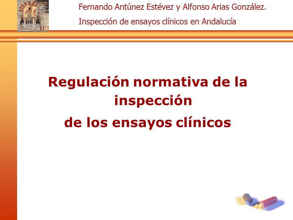 Regulación normativa de la inspección de los ensayos clínicos
