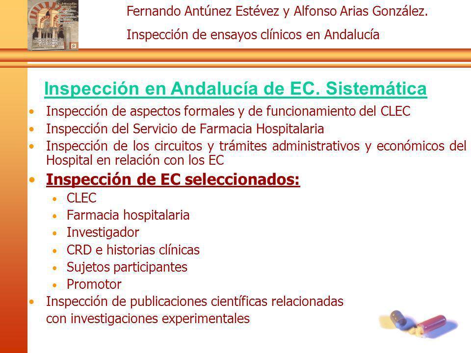 Inspección en Andalucía de EC. Sistemática