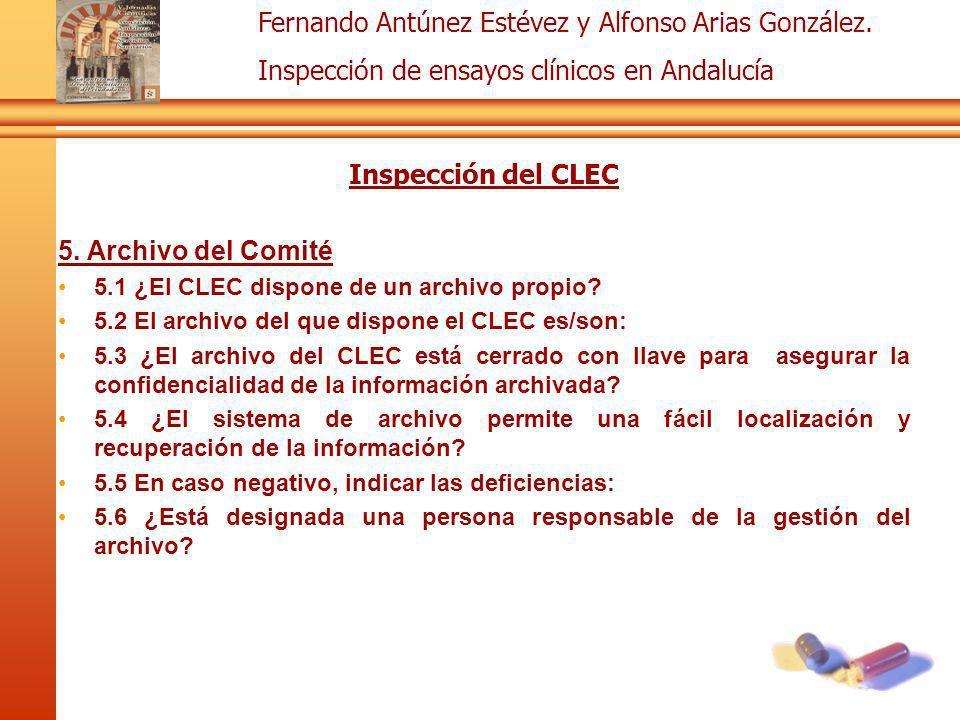 Inspección del CLEC 5. Archivo del Comité