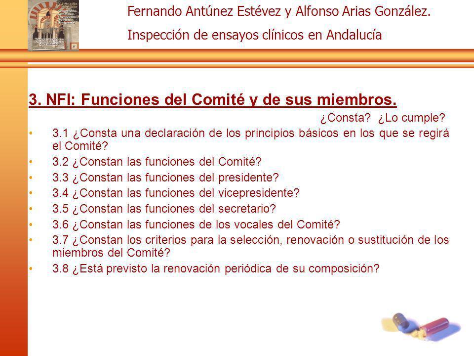 3. NFI: Funciones del Comité y de sus miembros.