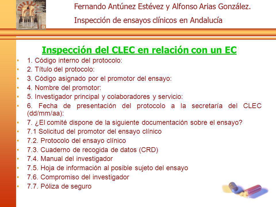 Inspección del CLEC en relación con un EC