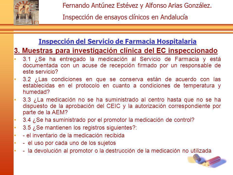 Inspección del Servicio de Farmacia Hospitalaria