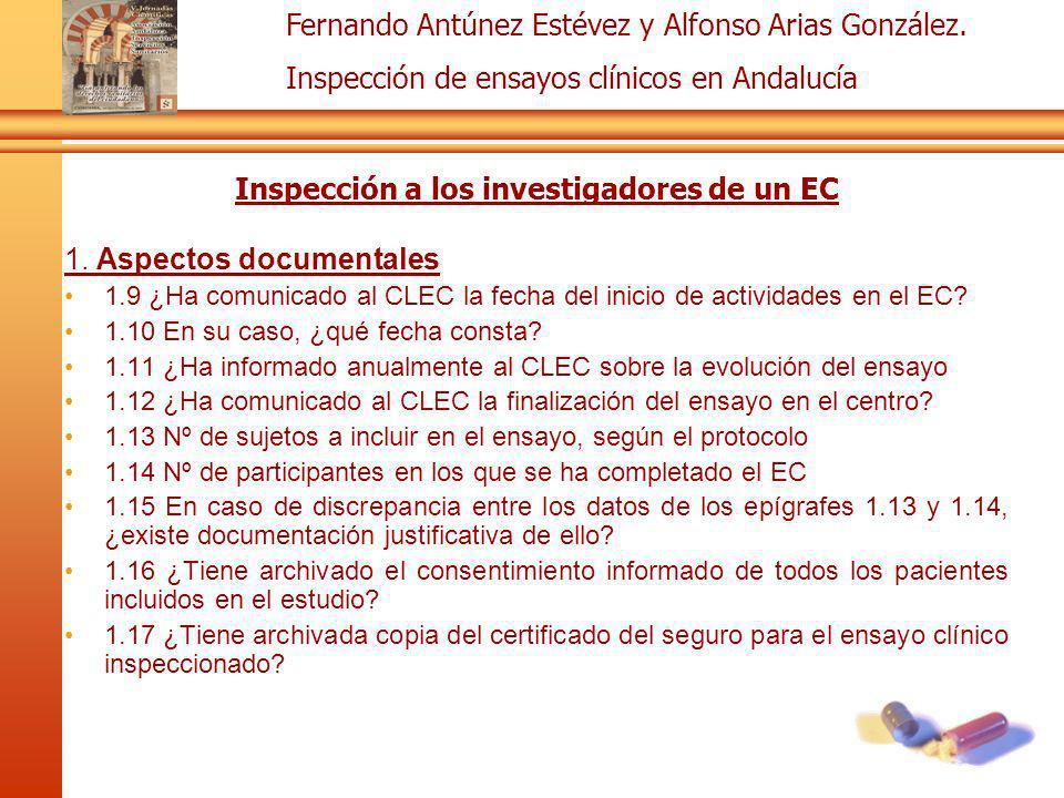Inspección a los investigadores de un EC