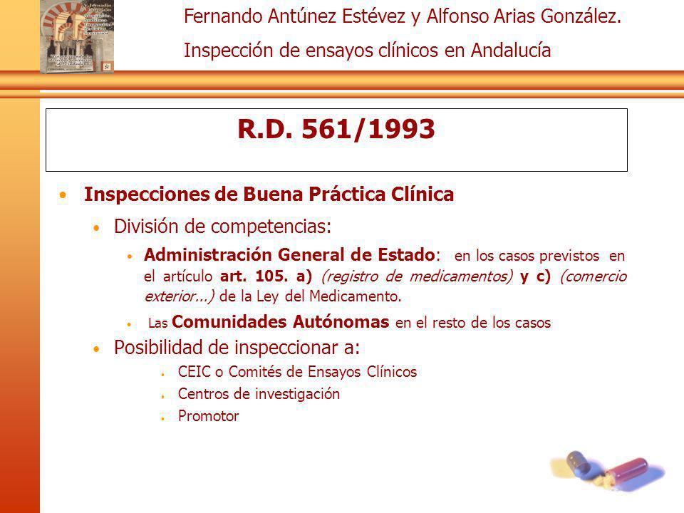 R.D. 561/1993 Inspecciones de Buena Práctica Clínica