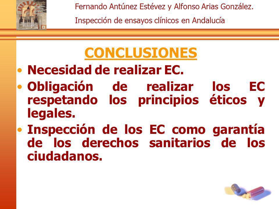 CONCLUSIONES Necesidad de realizar EC.