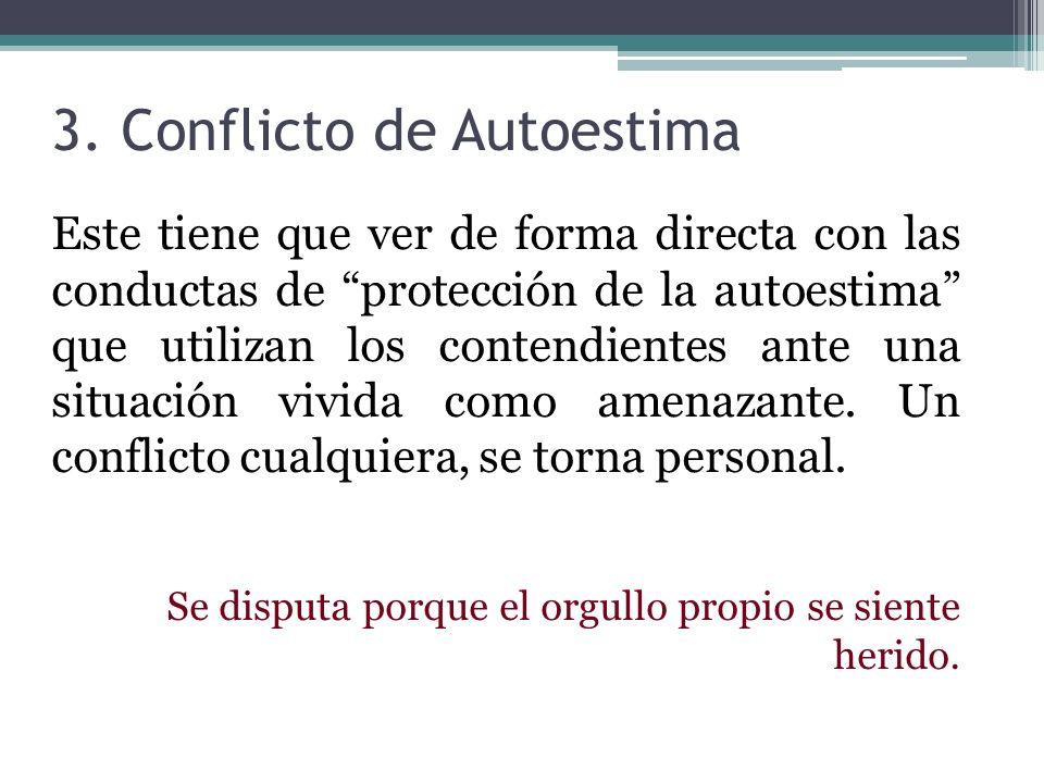 3. Conflicto de Autoestima