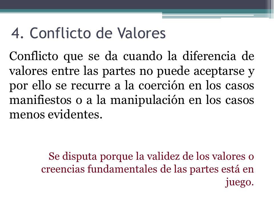 4. Conflicto de Valores
