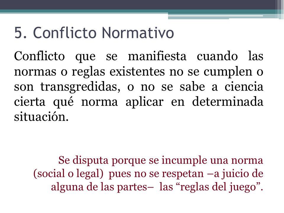 5. Conflicto Normativo