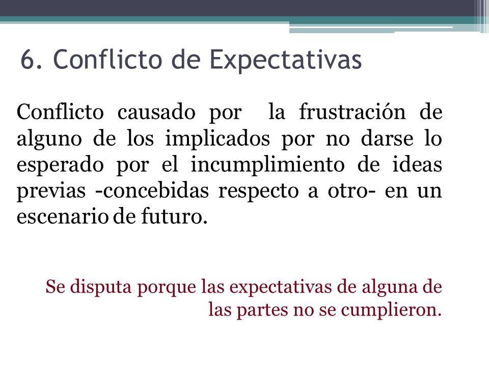 6. Conflicto de Expectativas