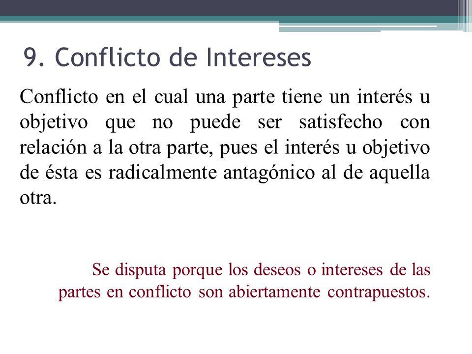 9. Conflicto de Intereses
