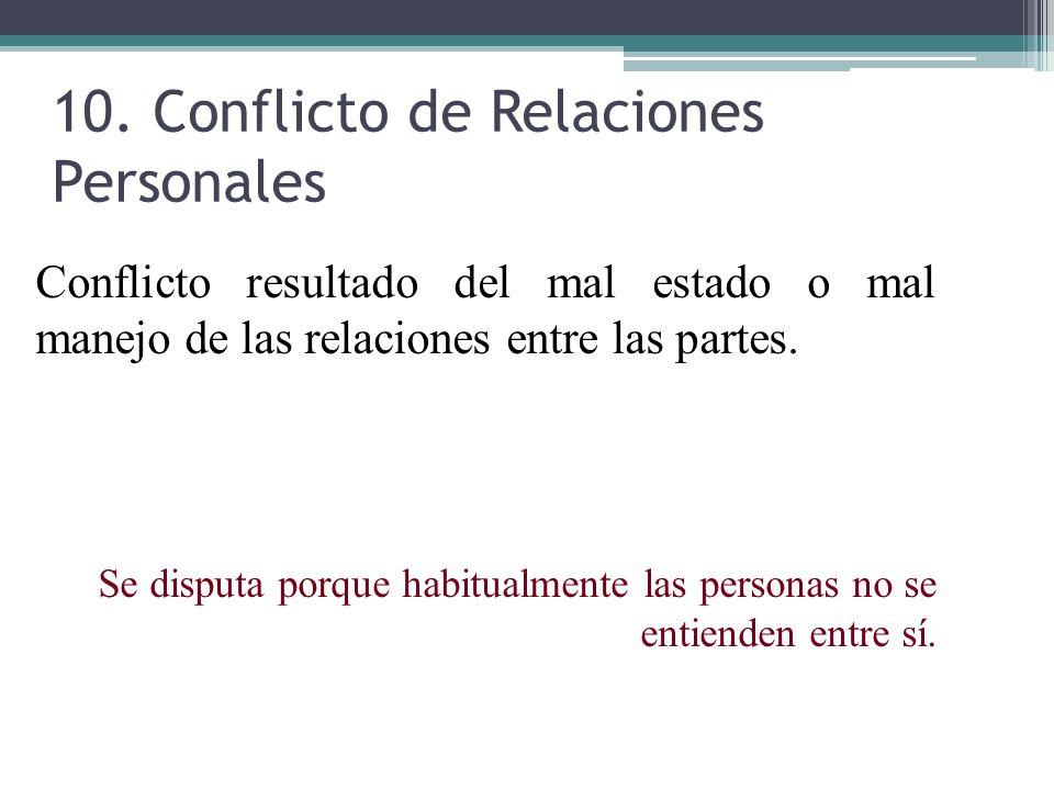 10. Conflicto de Relaciones Personales