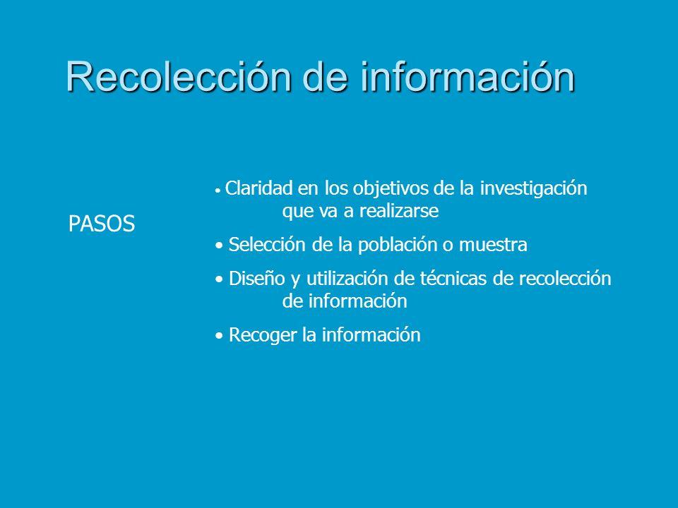 Recolección de información
