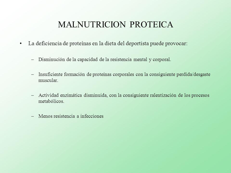 MALNUTRICION PROTEICA