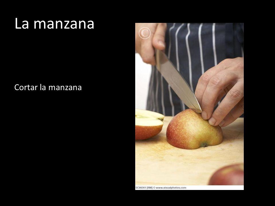 La manzana Cortar la manzana