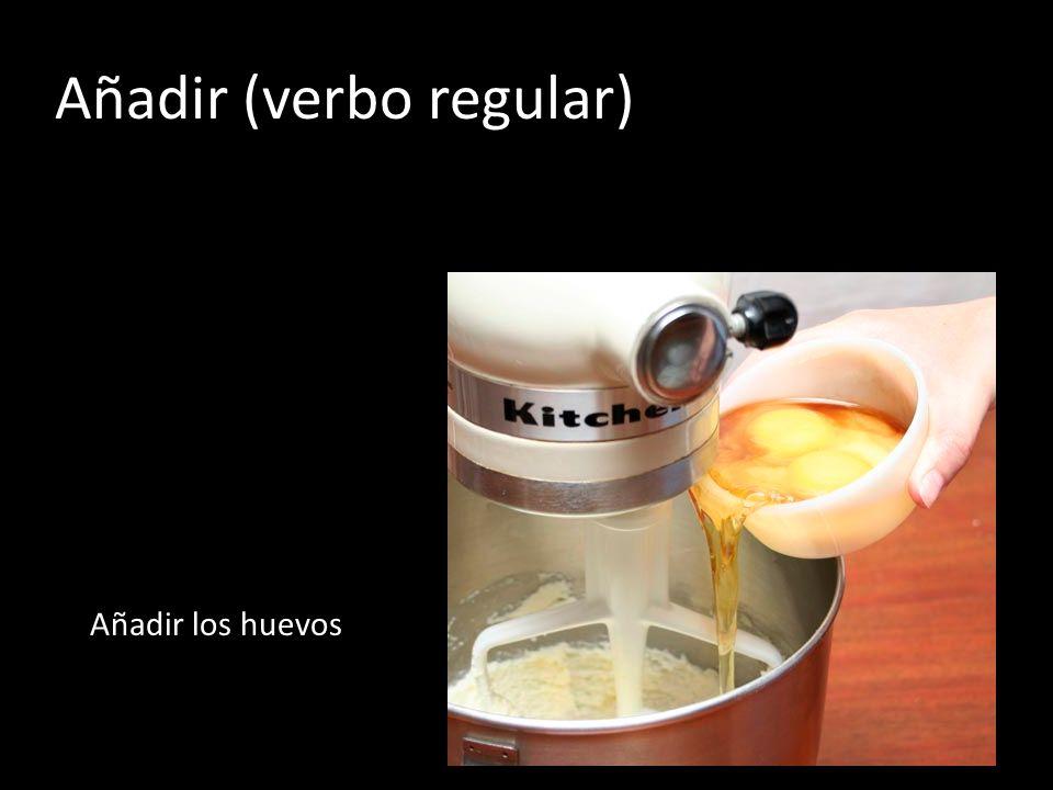 Añadir (verbo regular)