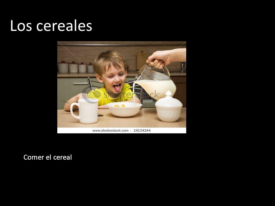 Los cereales Comer el cereal