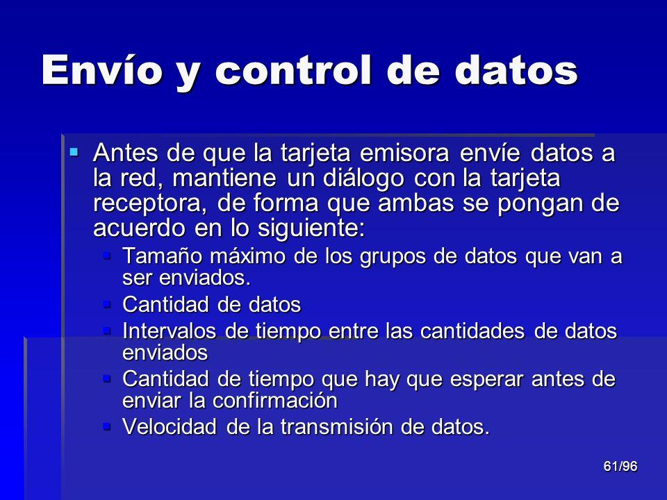 Envío y control de datos