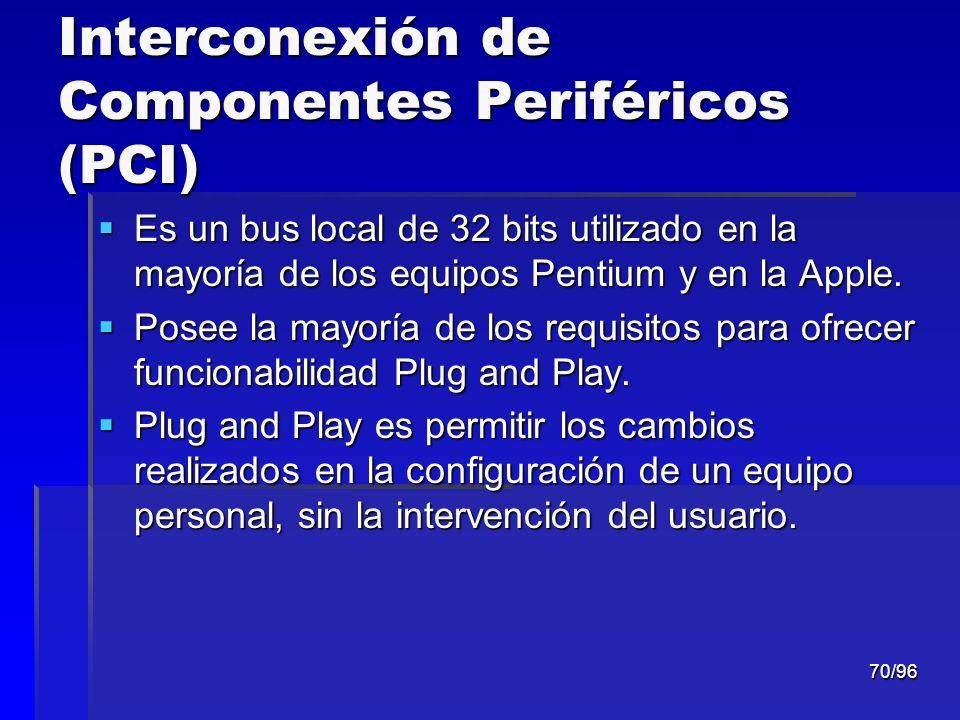 Interconexión de Componentes Periféricos (PCI)
