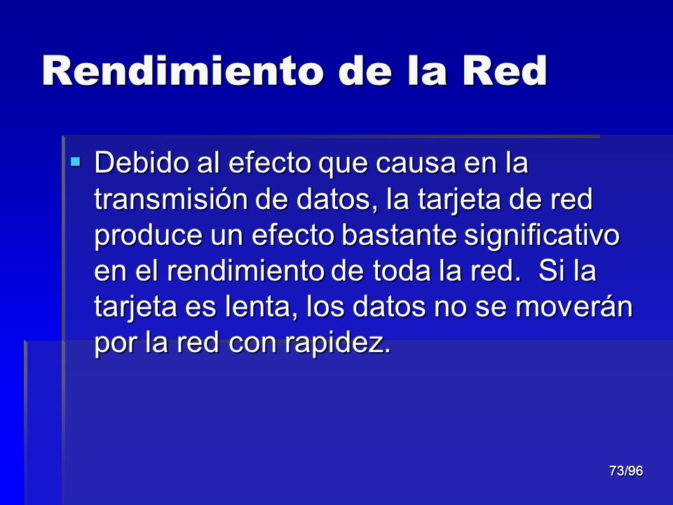 Rendimiento de la Red