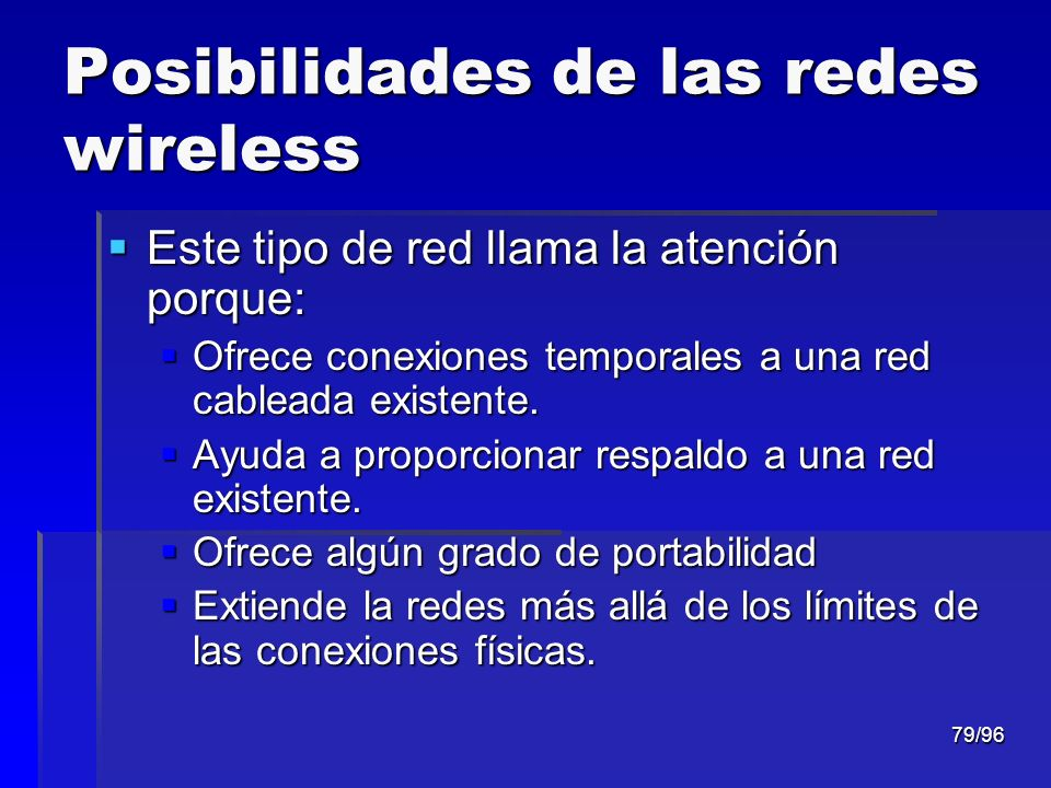 Posibilidades de las redes wireless