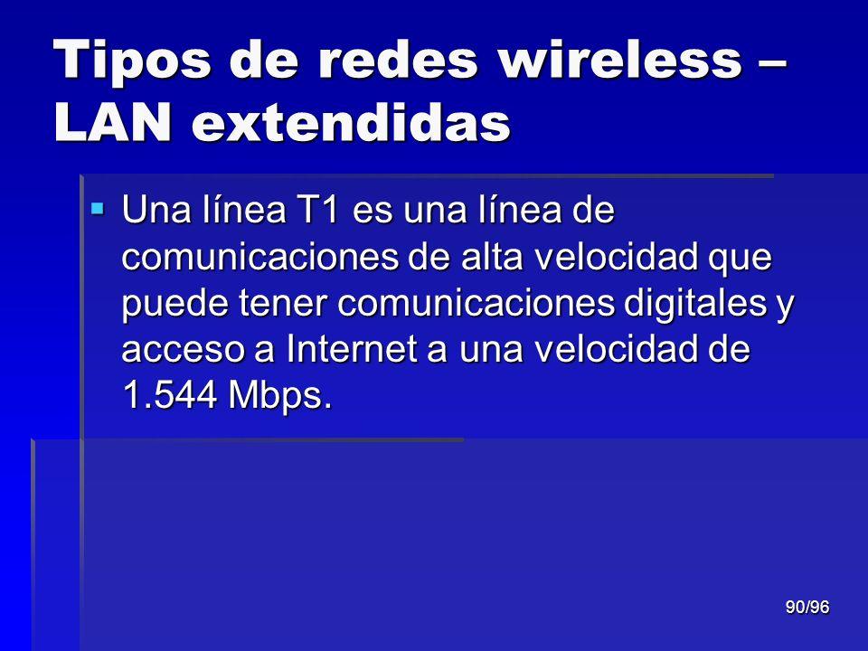 Tipos de redes wireless – LAN extendidas
