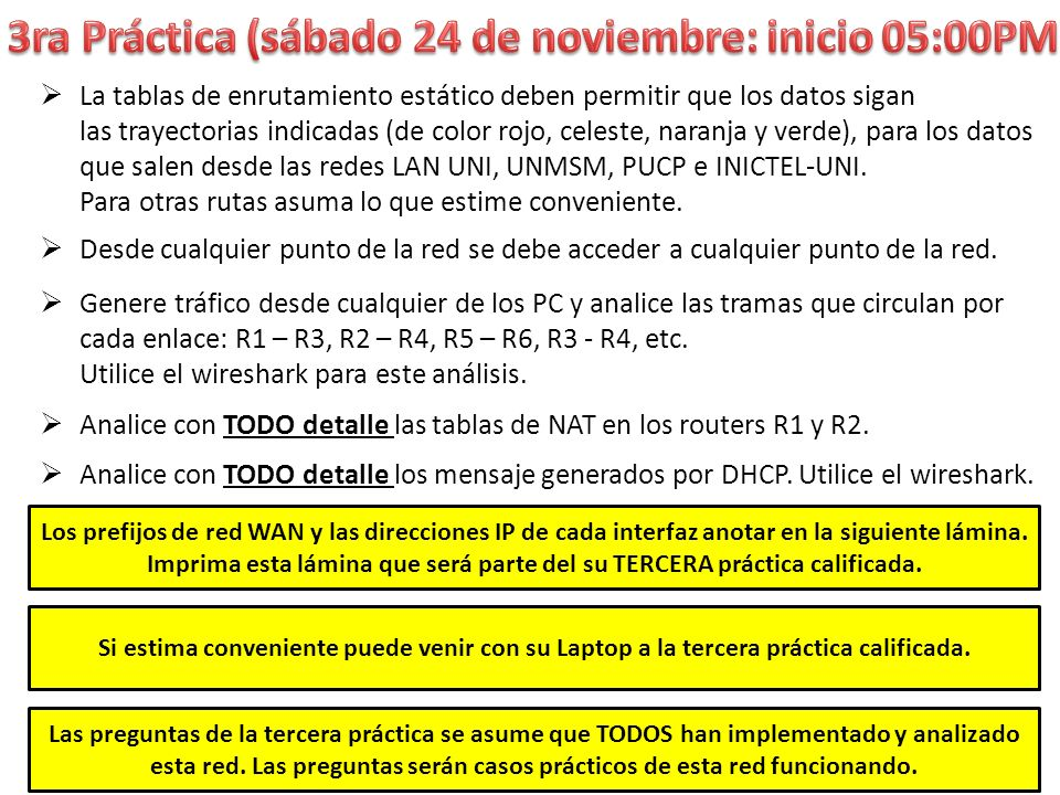 3ra Práctica (sábado 24 de noviembre: inicio 05:00PM)