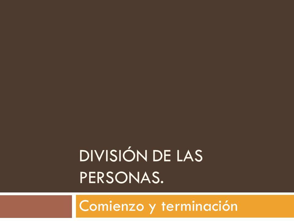 División de las Personas.