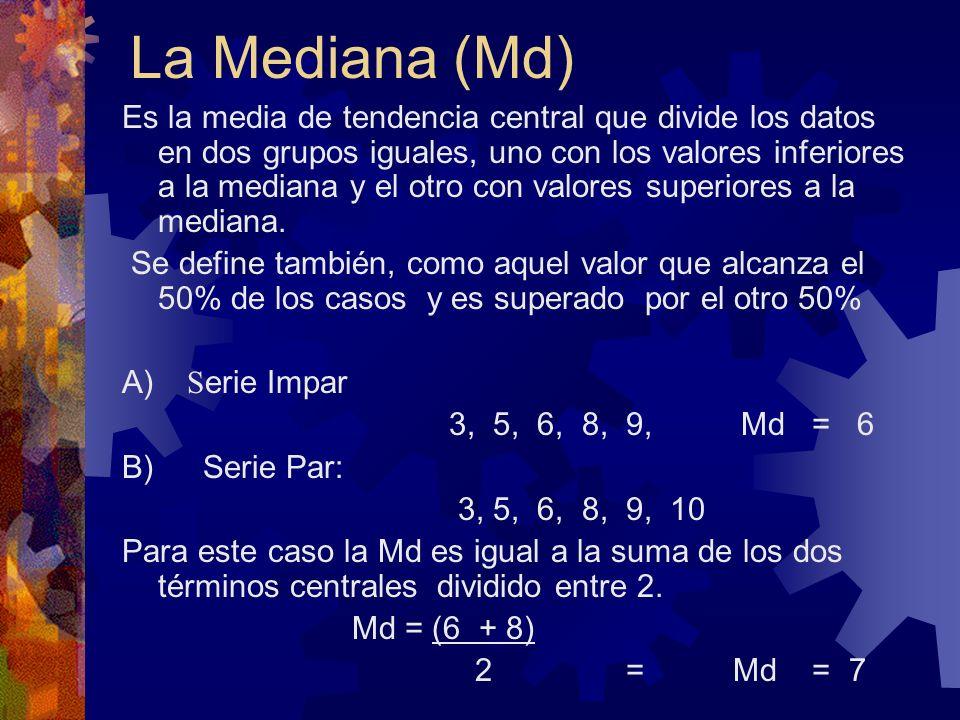 La Mediana (Md)