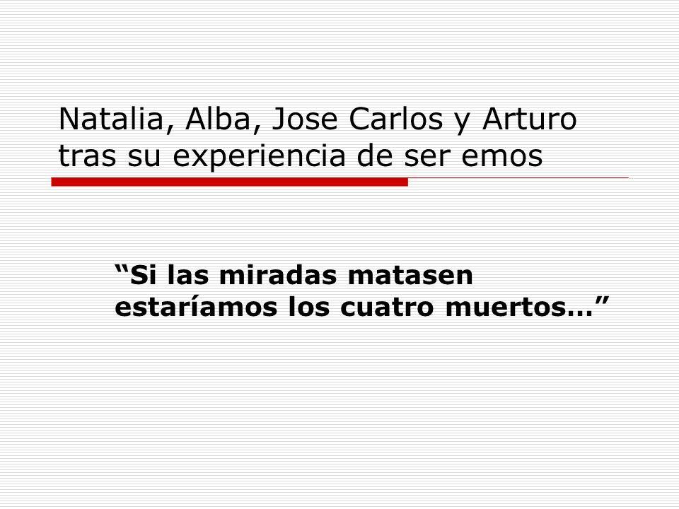 Natalia, Alba, Jose Carlos y Arturo tras su experiencia de ser emos