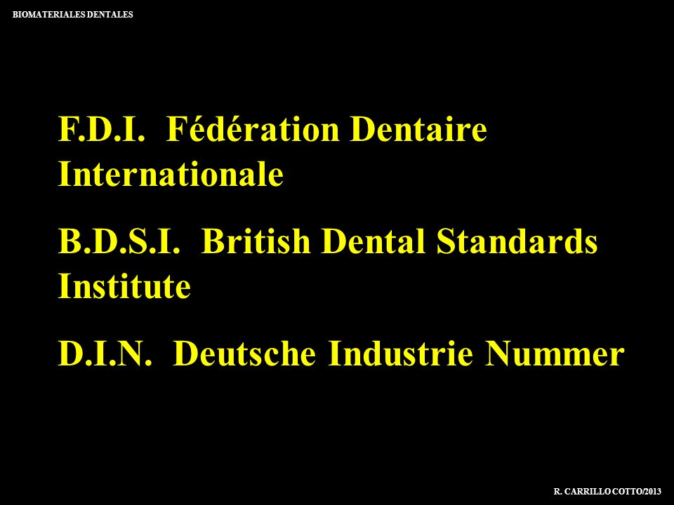 F.D.I. Fédération Dentaire Internationale