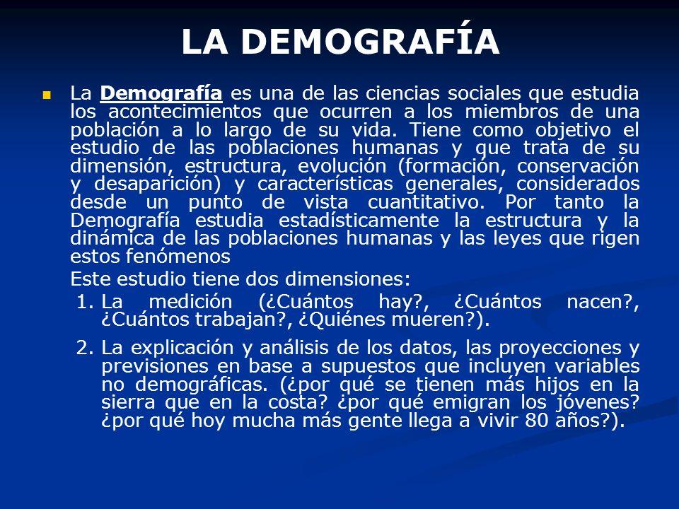 LA DEMOGRAFÍA