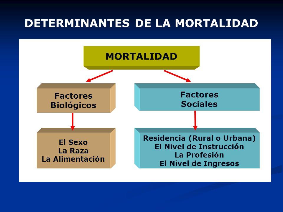 DETERMINANTES DE LA MORTALIDAD