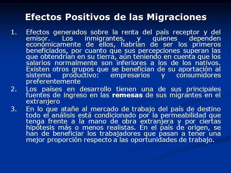 Efectos Positivos de las Migraciones