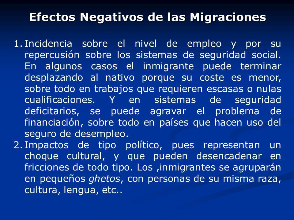 Efectos Negativos de las Migraciones