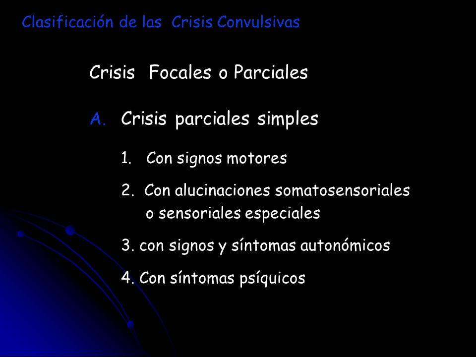 Crisis Focales o Parciales Crisis parciales simples