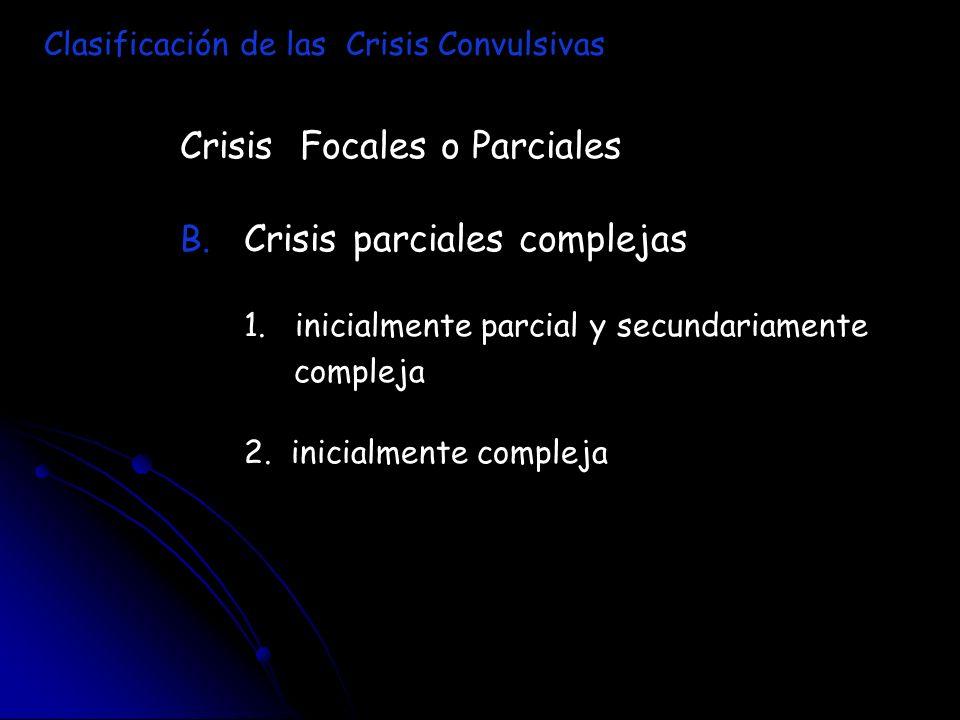 Crisis Focales o Parciales Crisis parciales complejas