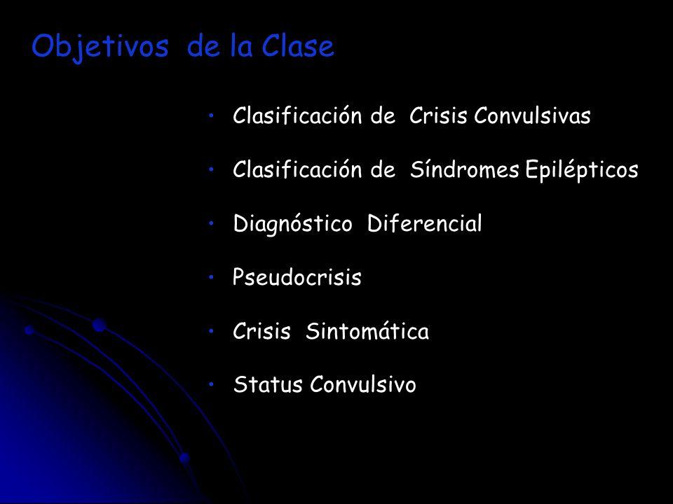 Objetivos de la Clase Clasificación de Crisis Convulsivas