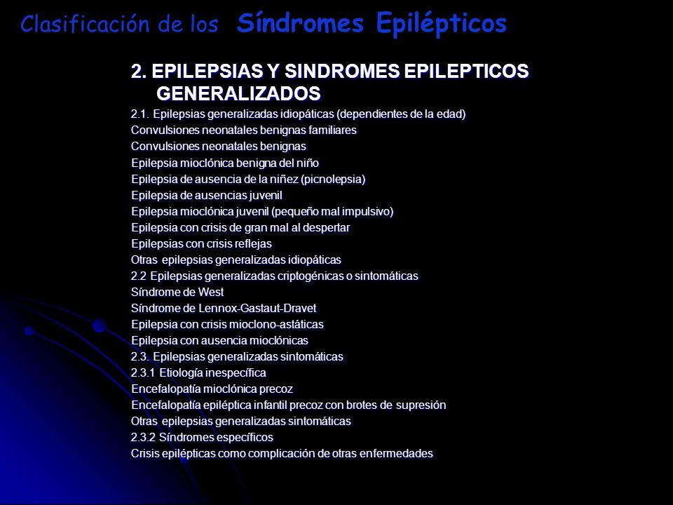 Clasificación de los Síndromes Epilépticos