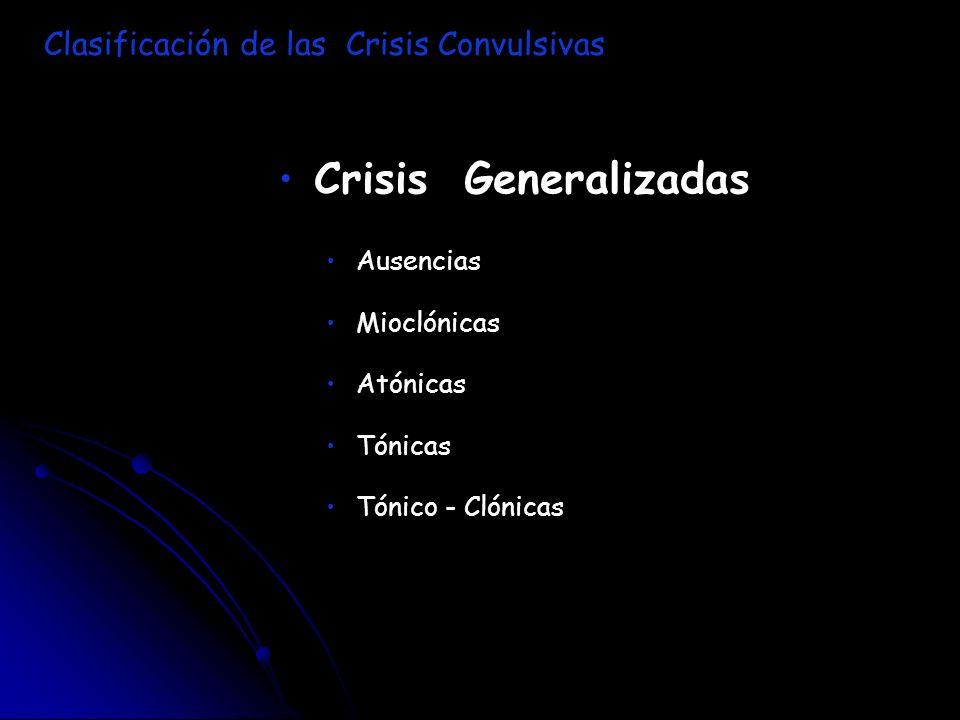 Crisis Generalizadas Clasificación de las Crisis Convulsivas Ausencias