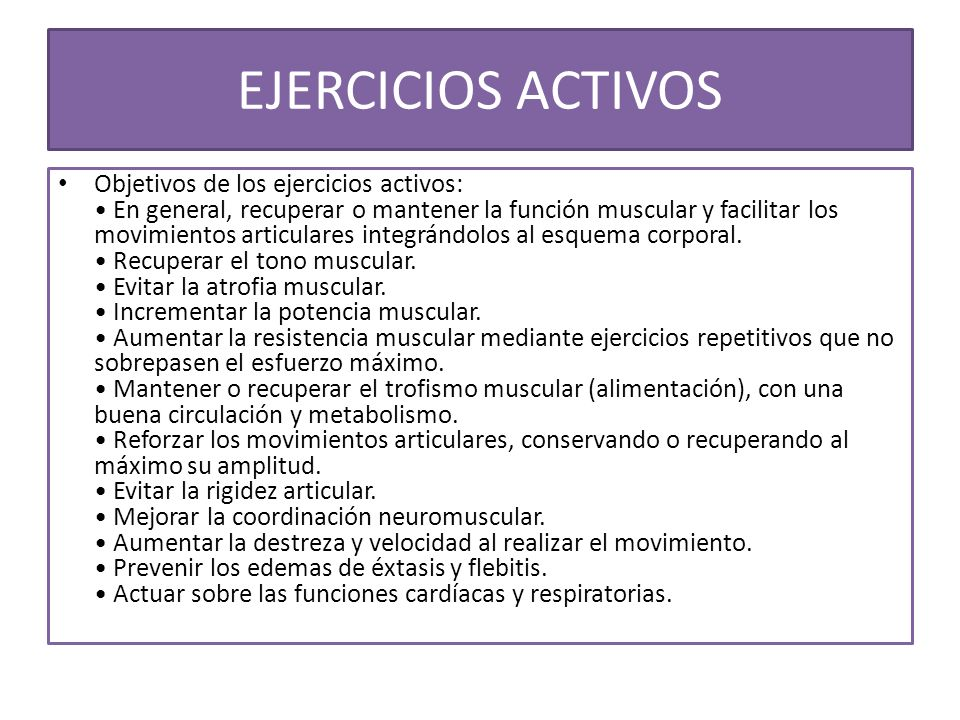 EJERCICIOS ACTIVOS