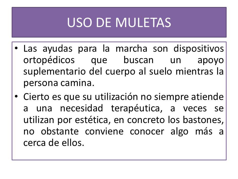 USO DE MULETAS