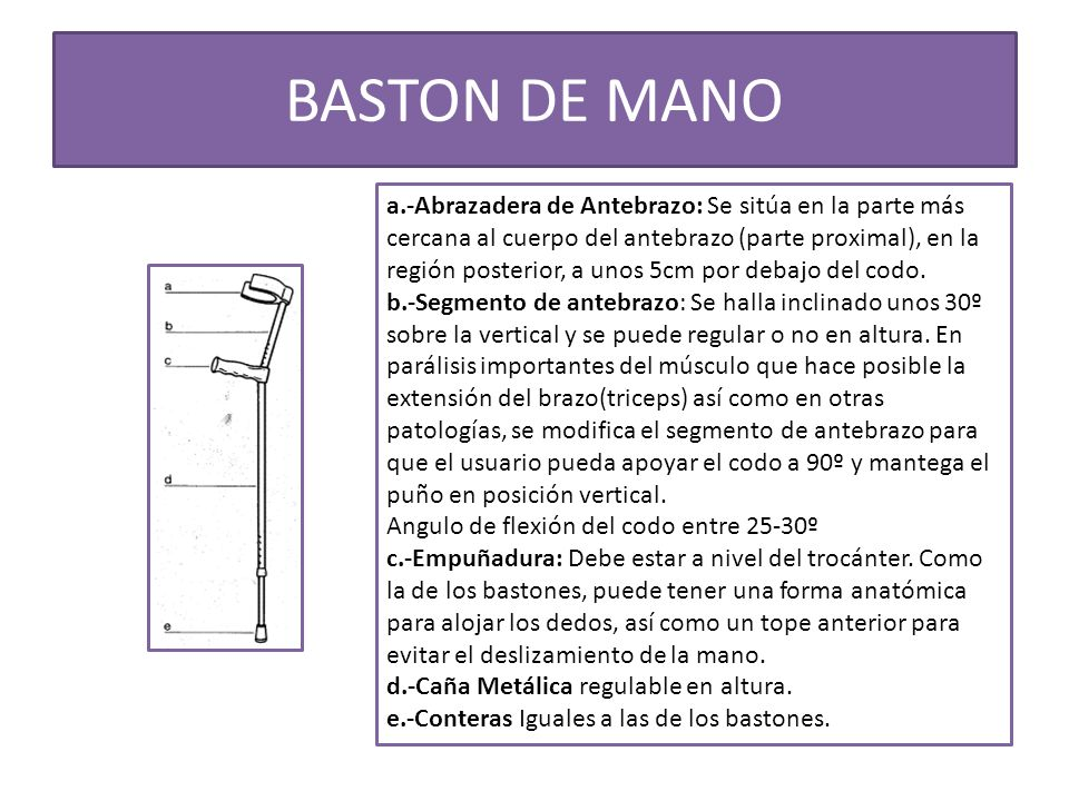 BASTON DE MANO