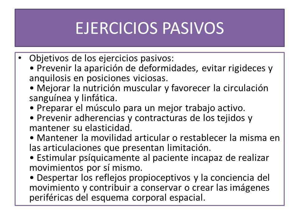 EJERCICIOS PASIVOS