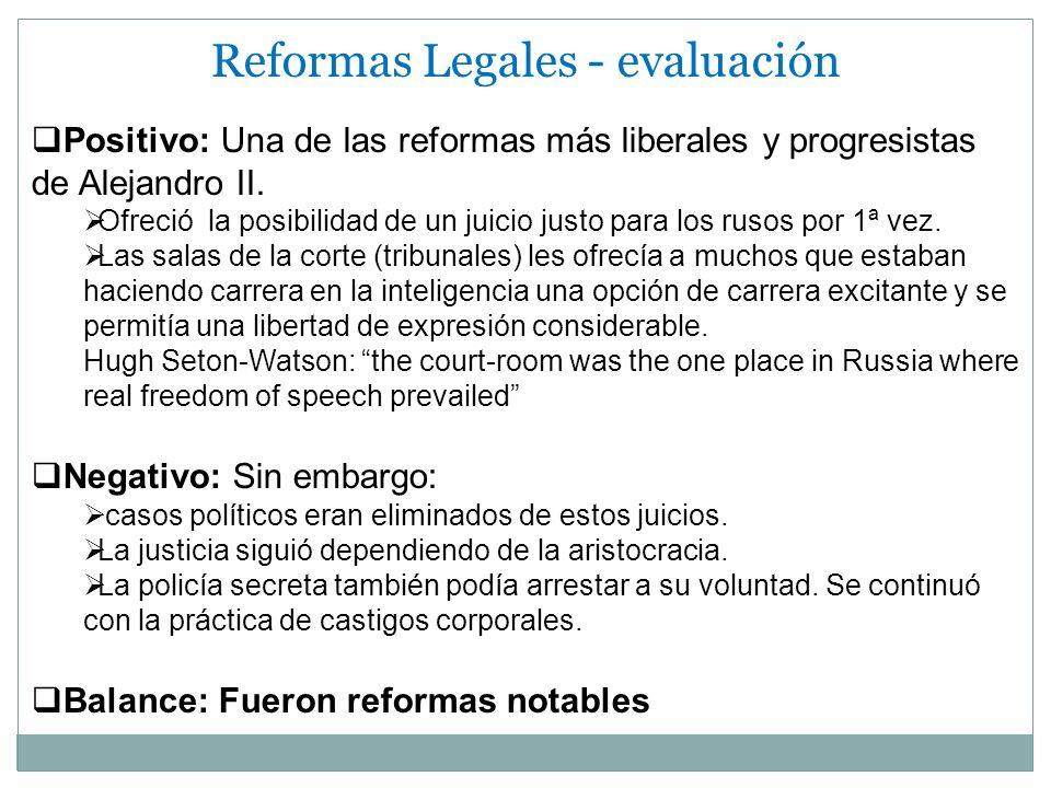Reformas Legales - evaluación