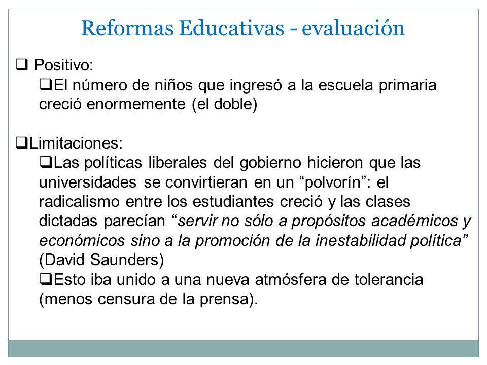 Reformas Educativas - evaluación