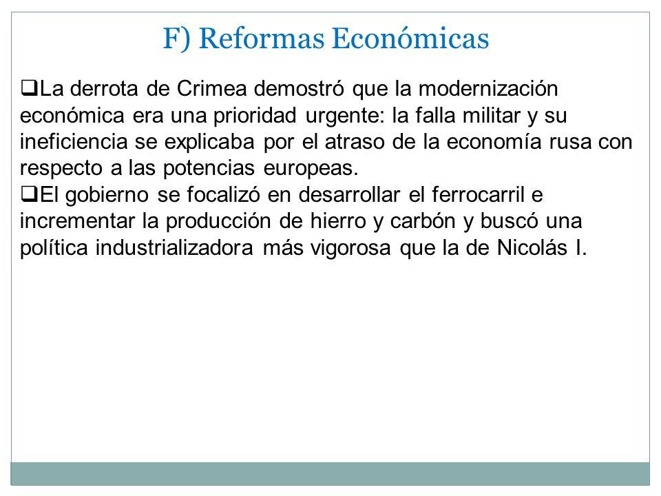 F) Reformas Económicas