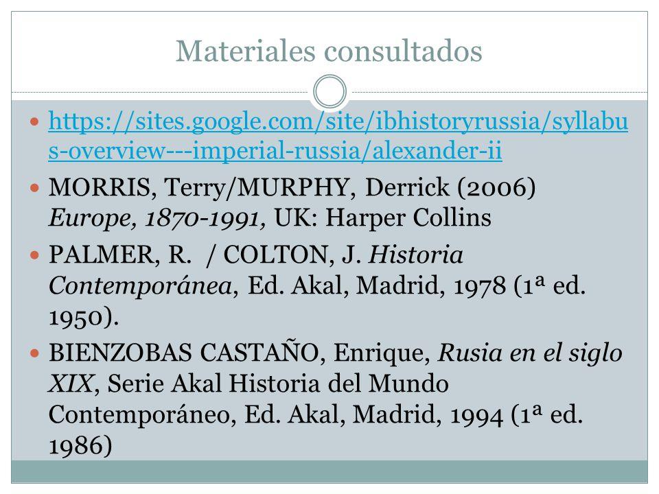 Materiales consultados